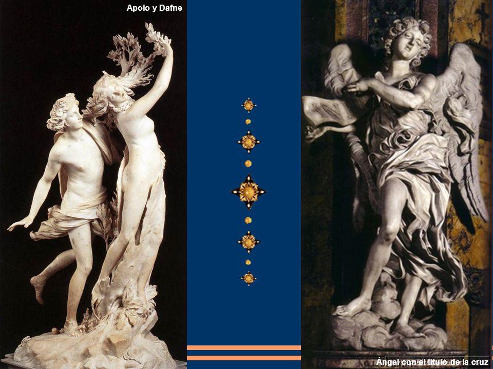 Apolo y Dafne Ángel con el título de la cruz