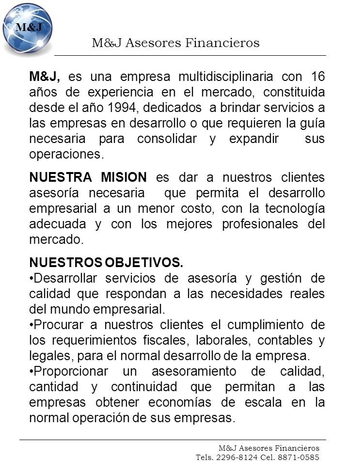 M&J Asesores Financieros