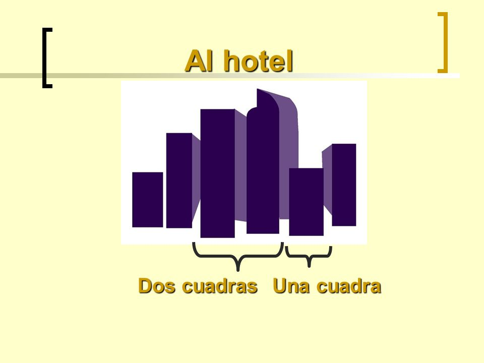 Al hotel Dos cuadras Una cuadra