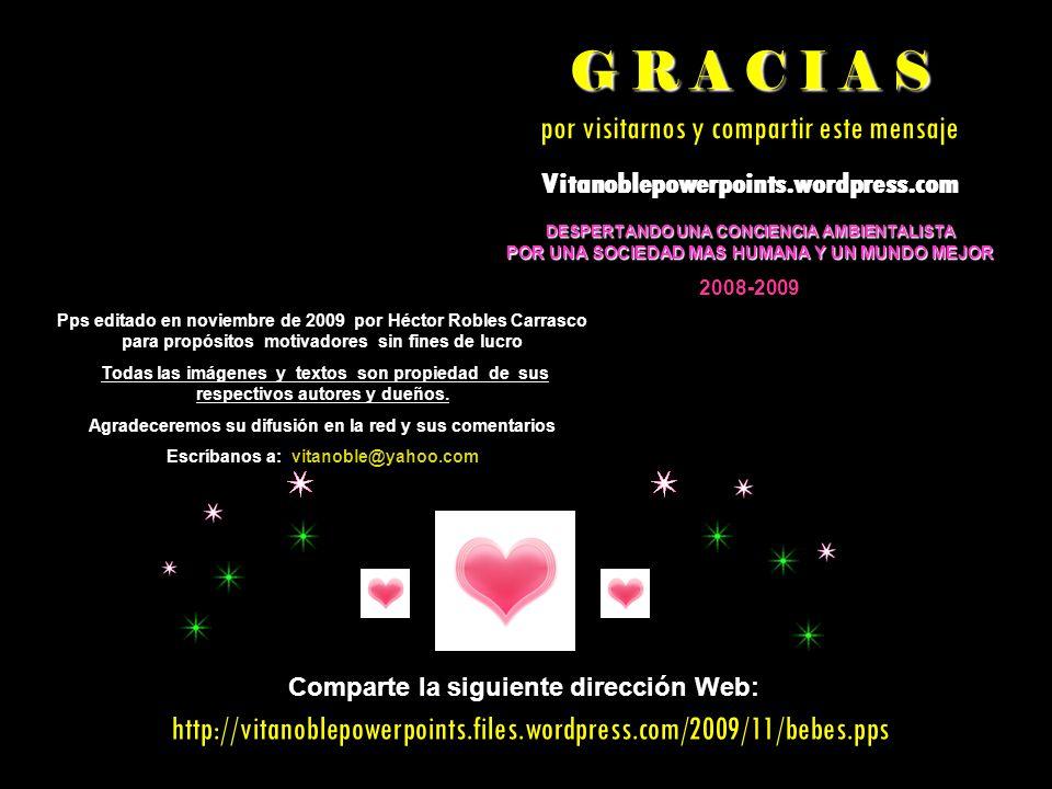 G R A C I A S por visitarnos y compartir este mensaje
