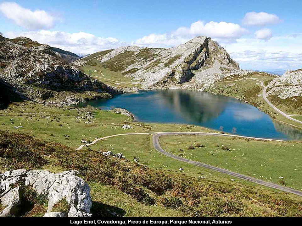 Lago Enol, Covadonga, Picos de Europa, Parque Nacional, Asturias