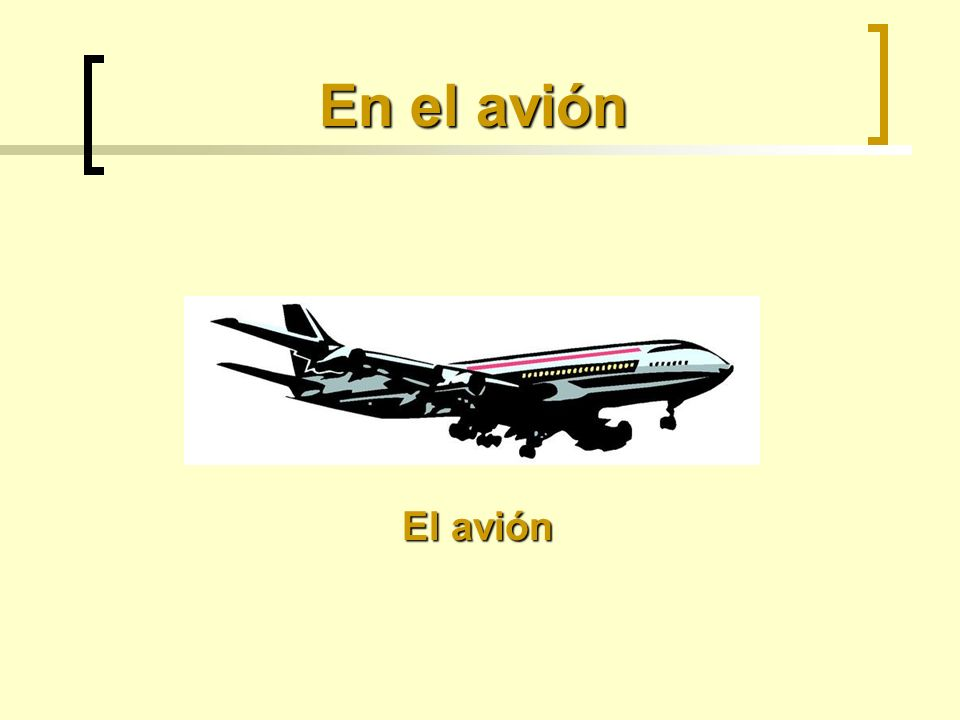 En el avión El avión