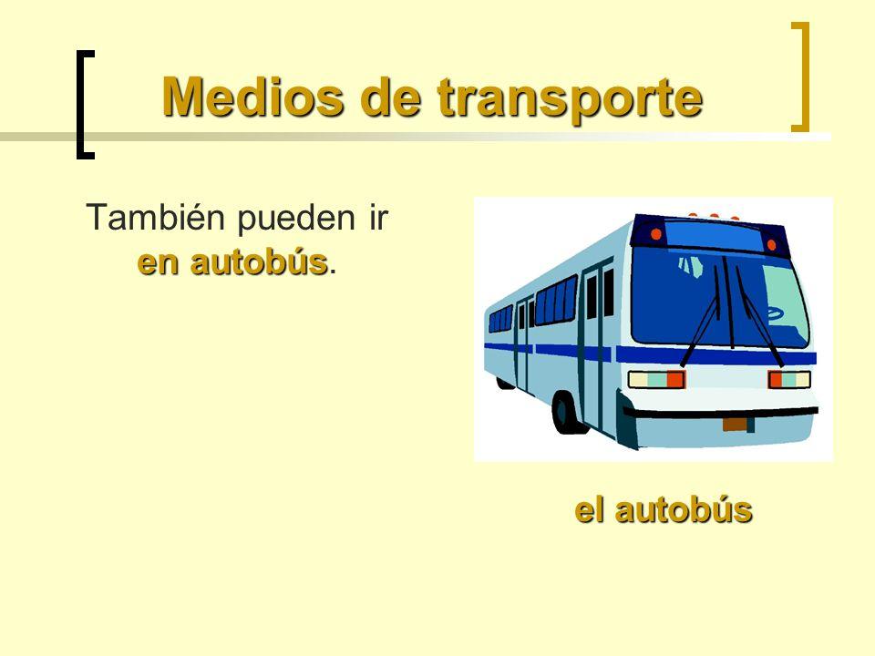 También pueden ir en autobús.