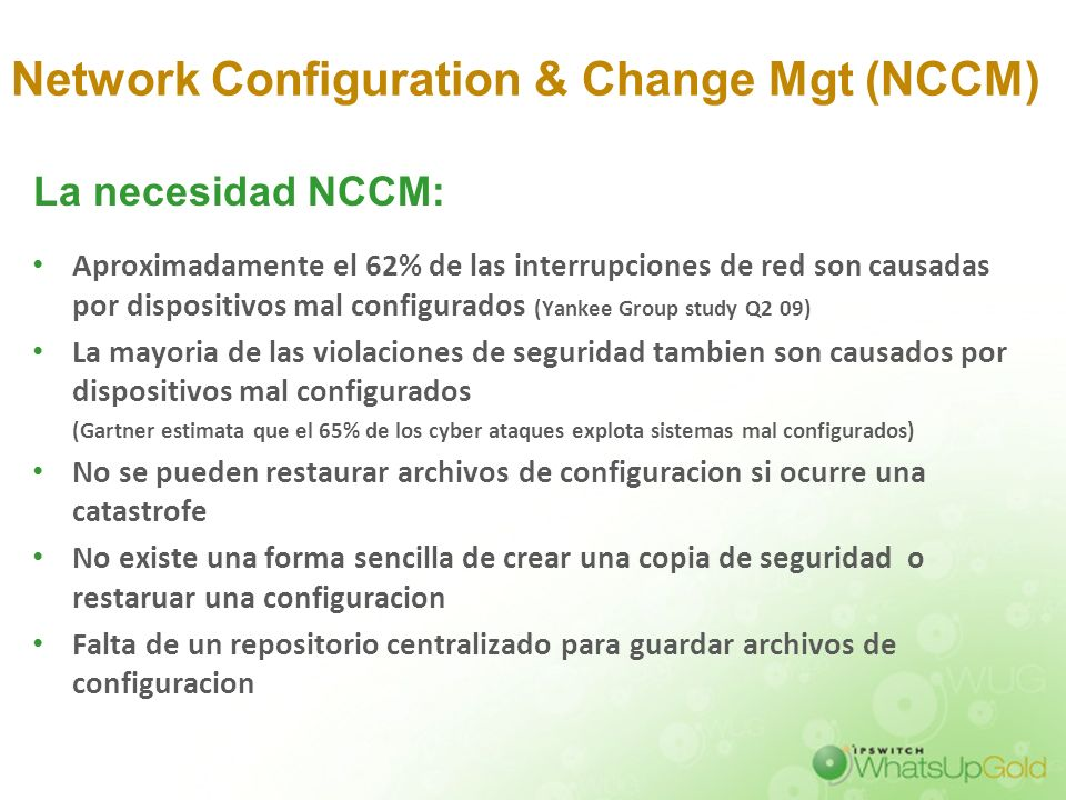 Network Configuration & Change Mgt (NCCM)