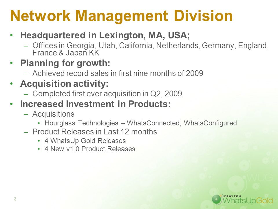 Network Management Division