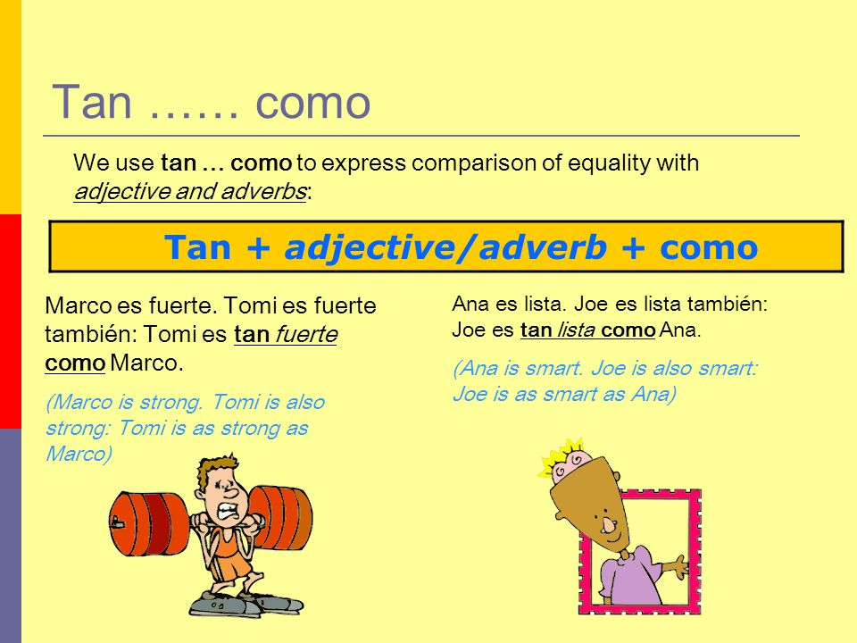 Tan + adjective/adverb + como