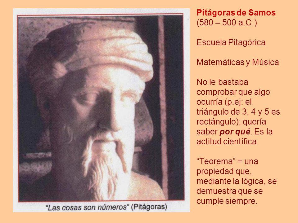 Pitágoras de Samos (580 – 500 a. C