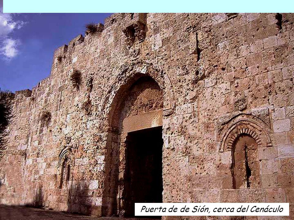 Puerta de de Sión, cerca del Cenáculo