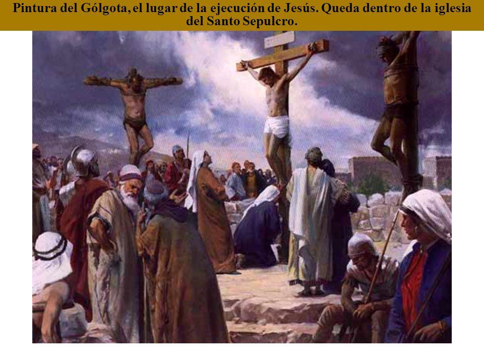 Pintura del Gólgota, el lugar de la ejecución de Jesús