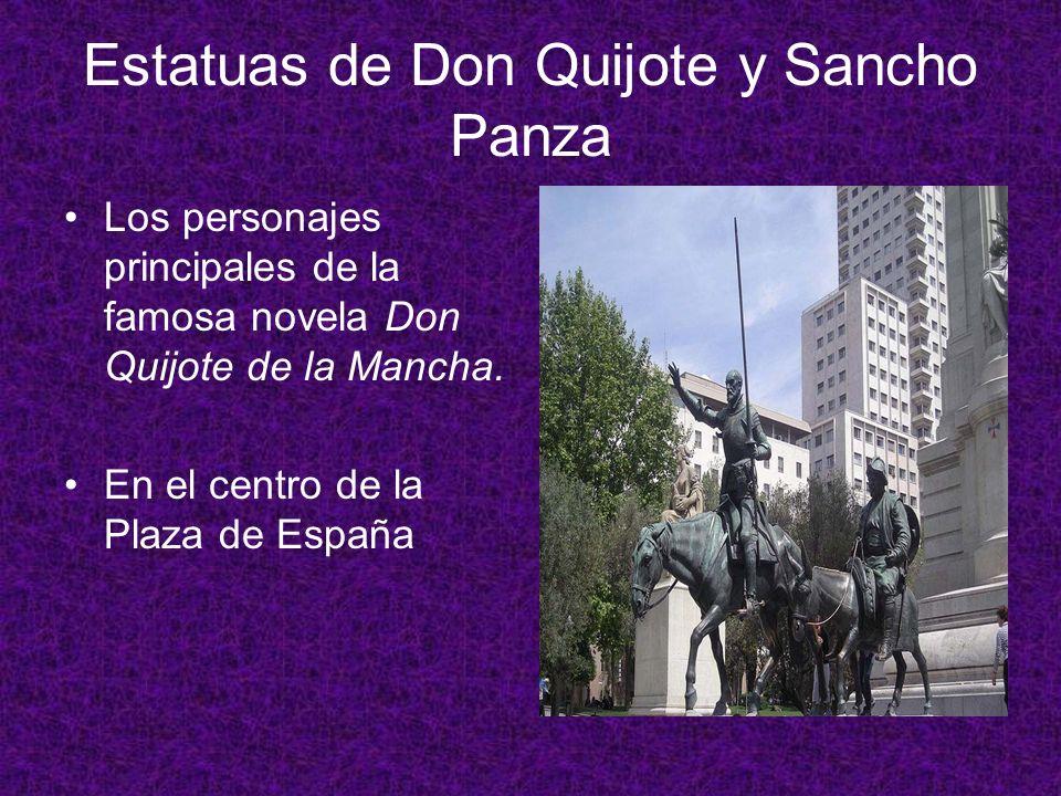 Estatuas de Don Quijote y Sancho Panza