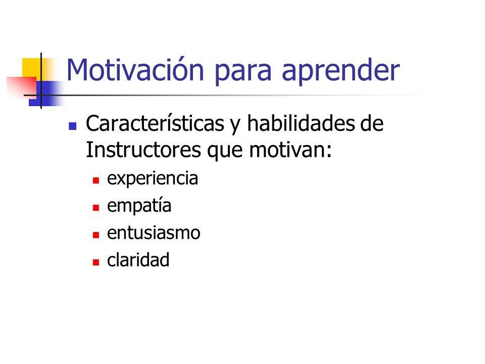 Motivación para aprender
