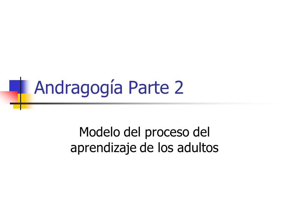 Modelo del proceso del aprendizaje de los adultos
