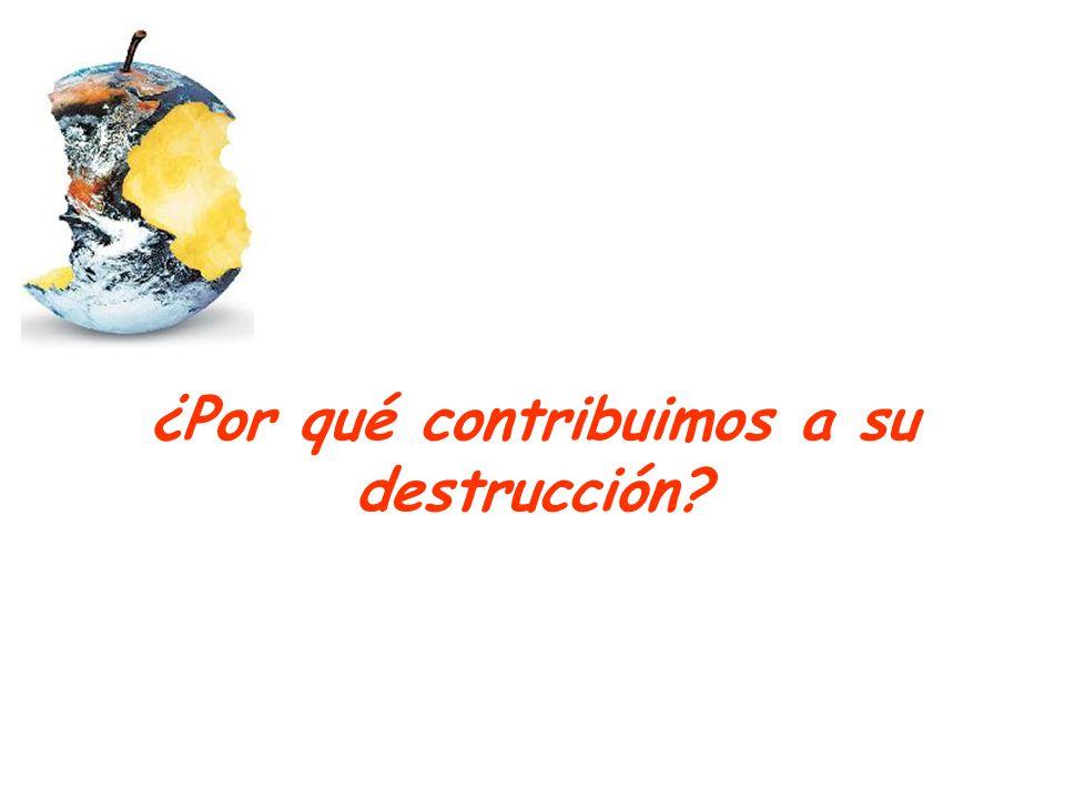 ¿Por qué contribuimos a su destrucción