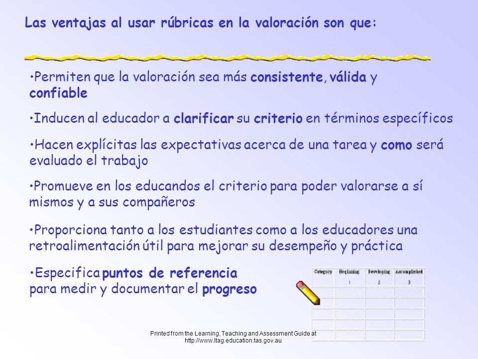 Las ventajas al usar rúbricas en la valoración son que: