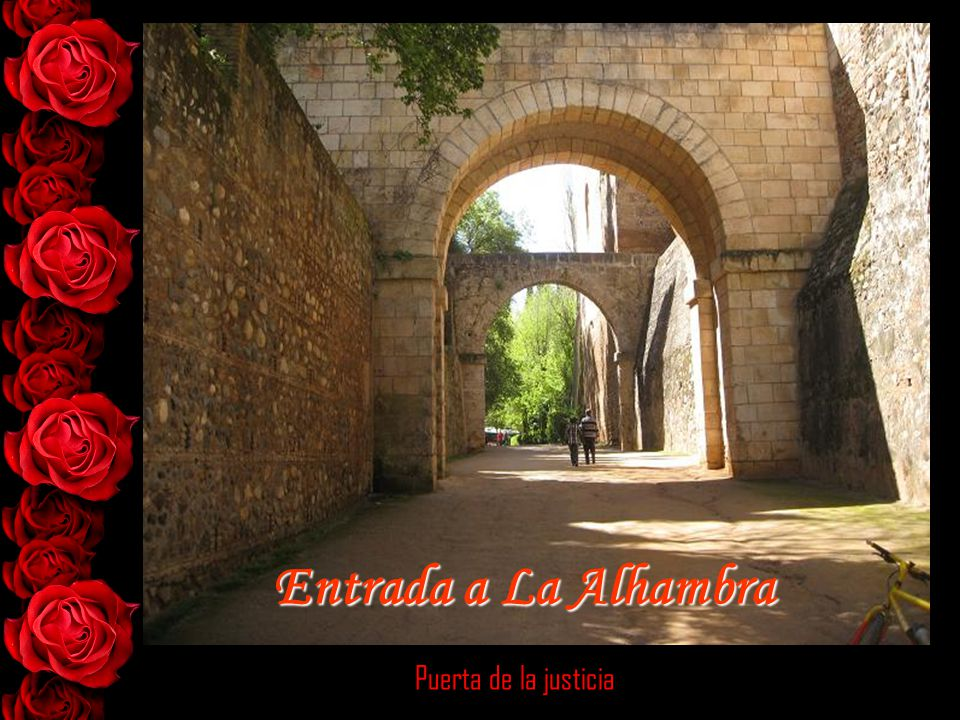 Entrada a La Alhambra Puerta de la justicia