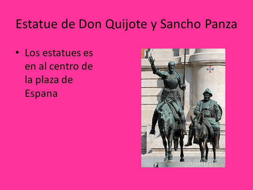 Estatue de Don Quijote y Sancho Panza