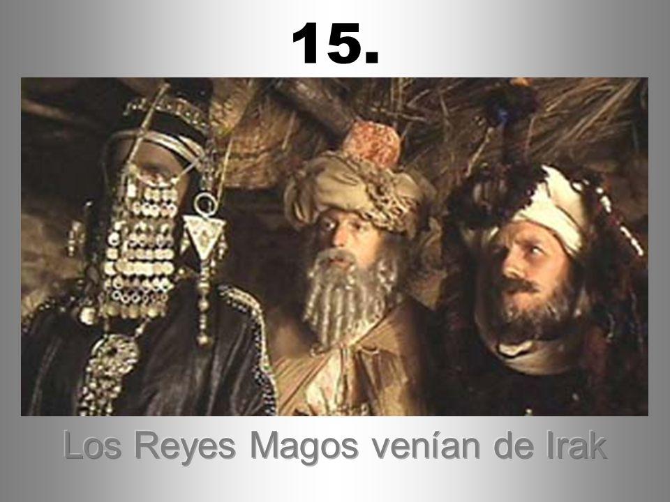 Los Reyes Magos venían de Irak