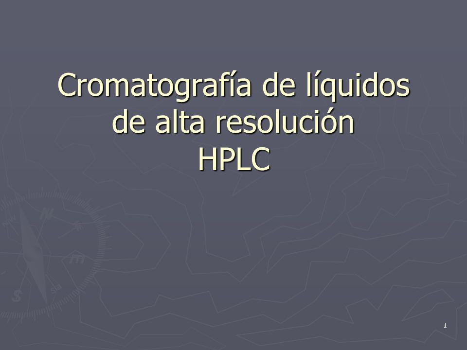 Cromatografía de líquidos de alta resolución HPLC