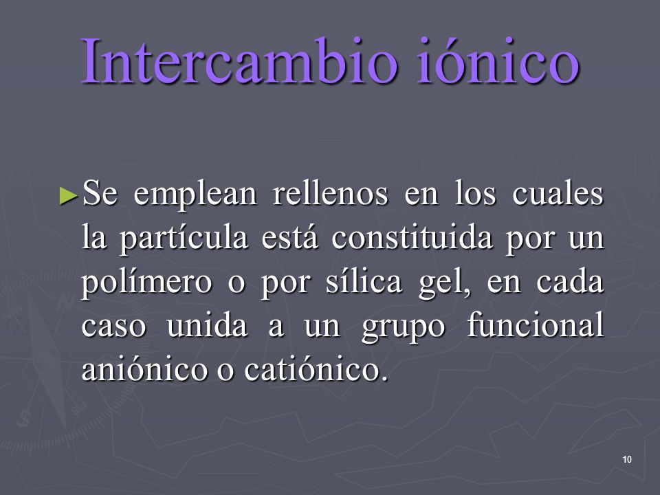 Intercambio iónico