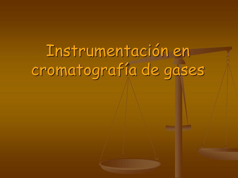 Instrumentación en cromatografía de gases
