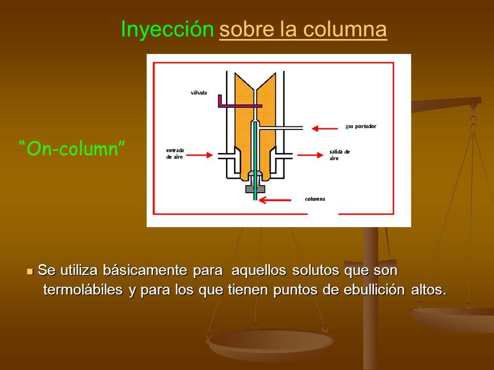Inyección sobre la columna