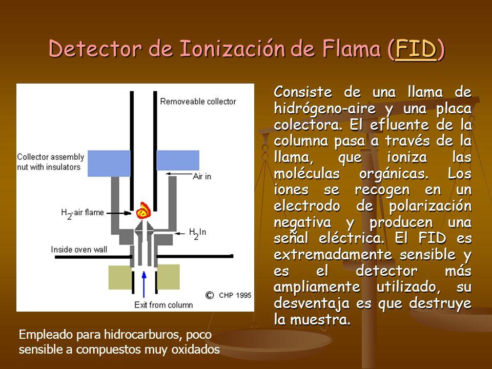 Detector de Ionización de Flama (FID)
