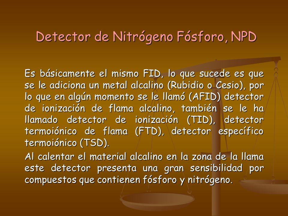 Detector de Nitrógeno Fósforo, NPD