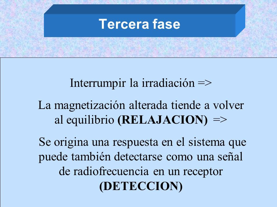Interrumpir la irradiación =>