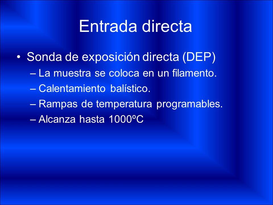Entrada directa Sonda de exposición directa (DEP)