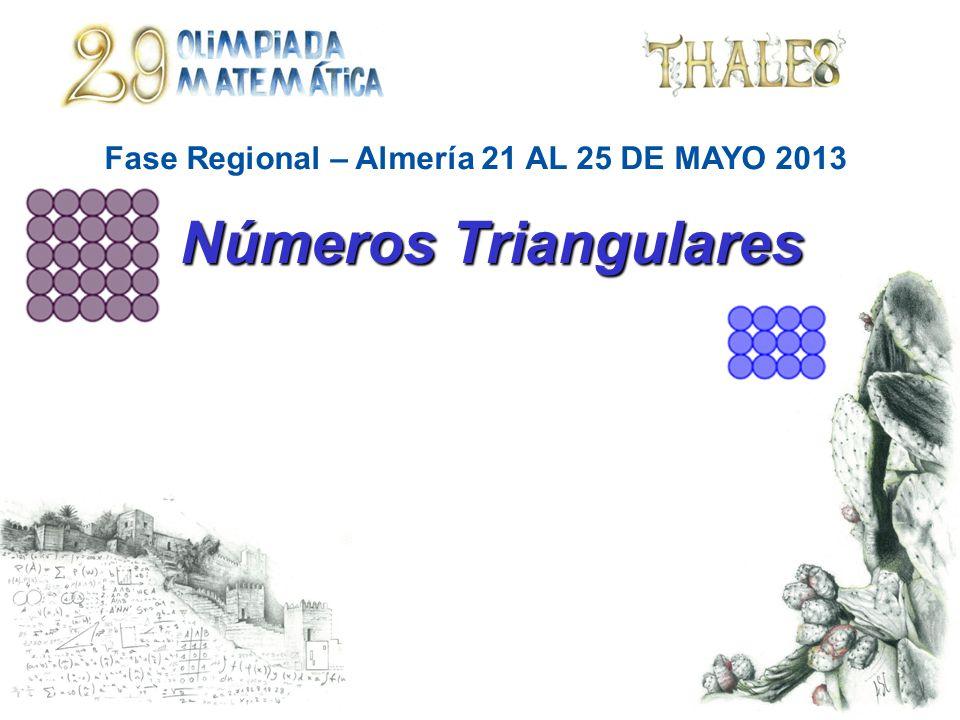 Fase Regional – Almería 21 AL 25 DE MAYO 2013