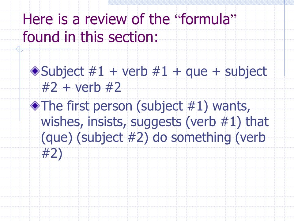 Here is a review of the formula found in this section: