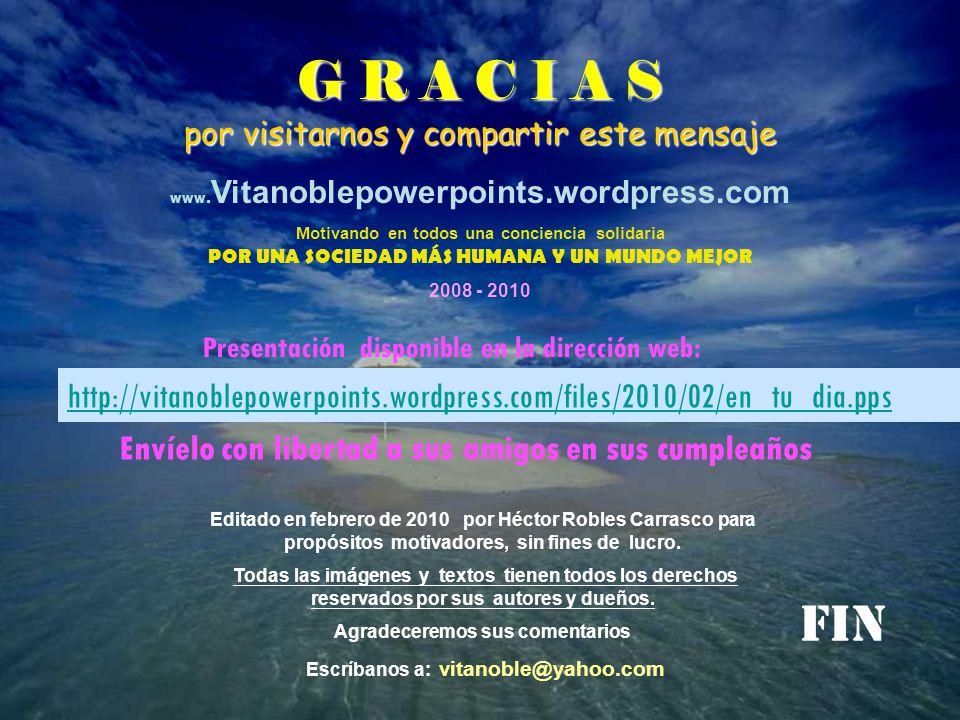 Agradeceremos sus comentarios Escríbanos a: vitanoble@yahoo.com