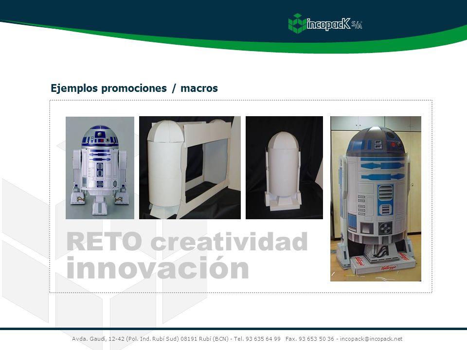 innovación RETO creatividad Ejemplos promociones / macros