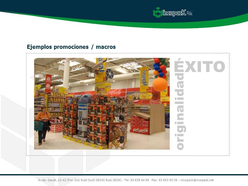 ÉXITO originalidad Ejemplos promociones / macros