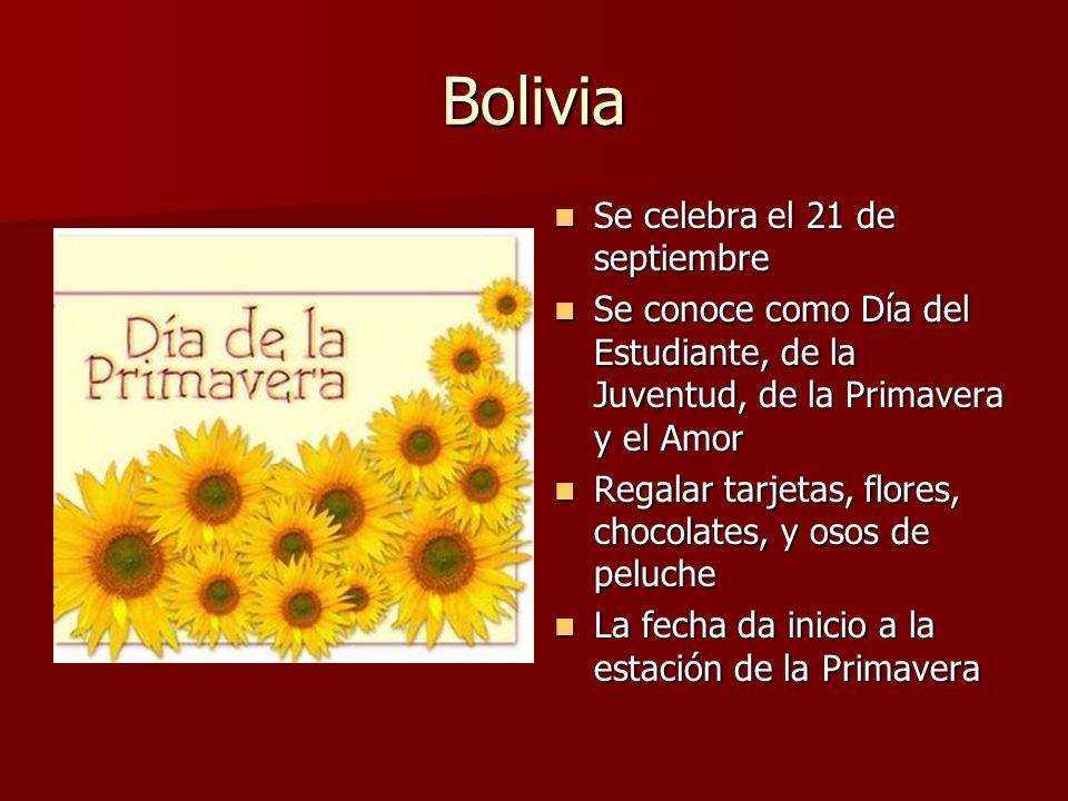 Bolivia Se celebra el 21 de septiembre