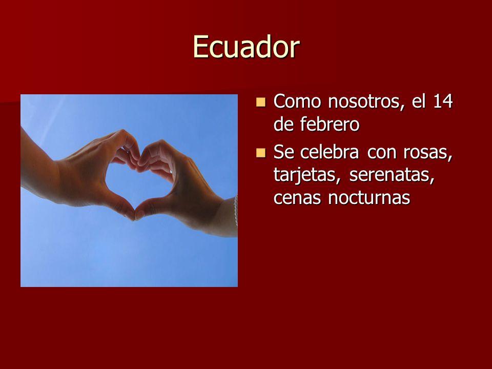Ecuador Como nosotros, el 14 de febrero