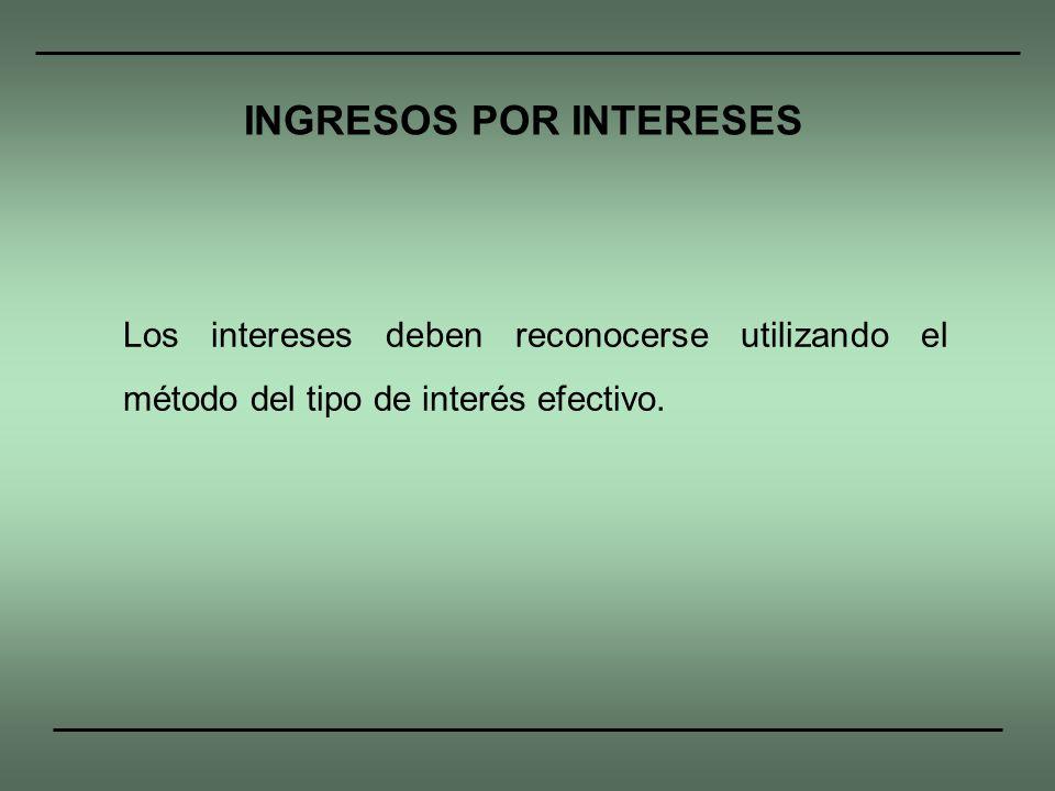 INGRESOS POR INTERESES