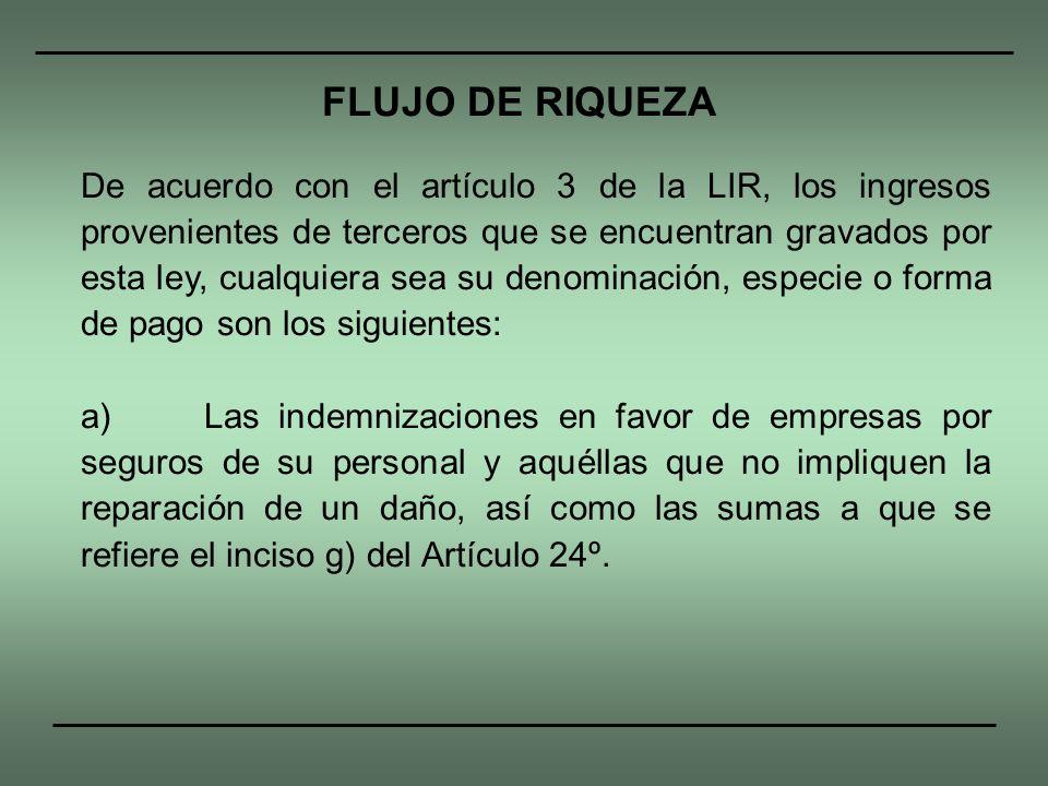 FLUJO DE RIQUEZA
