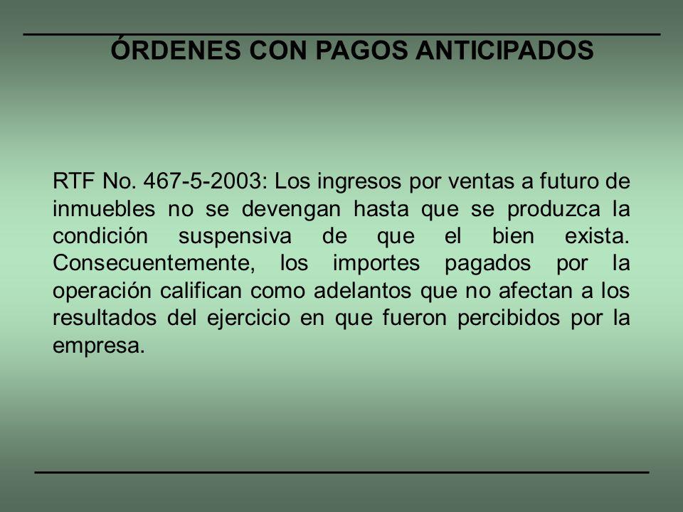 ÓRDENES CON PAGOS ANTICIPADOS