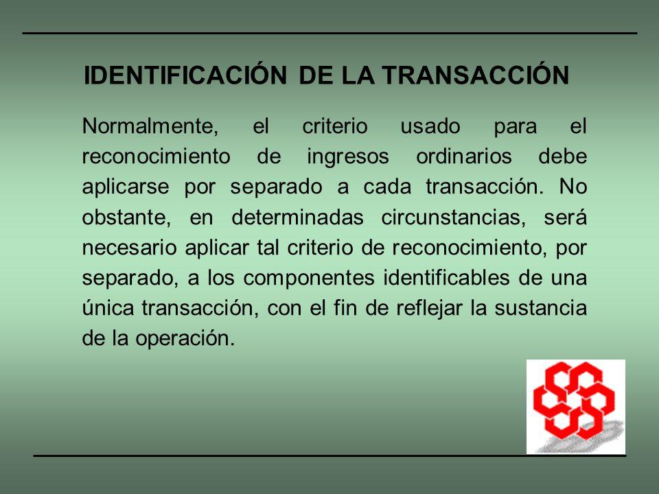IDENTIFICACIÓN DE LA TRANSACCIÓN
