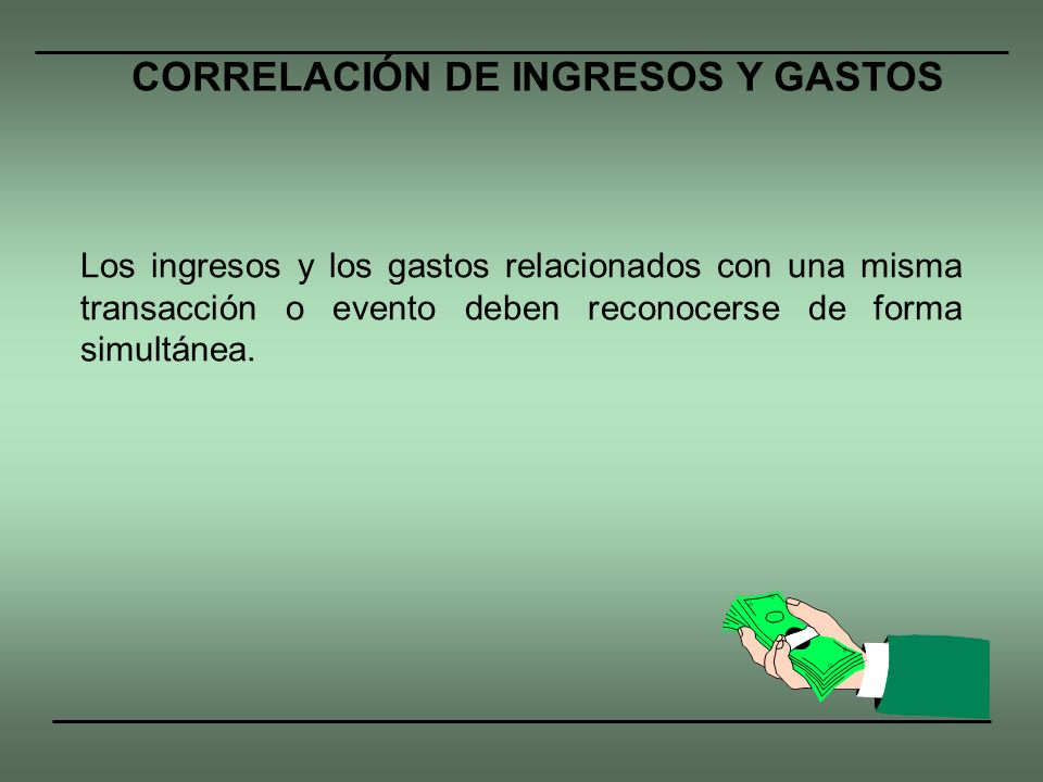 CORRELACIÓN DE INGRESOS Y GASTOS
