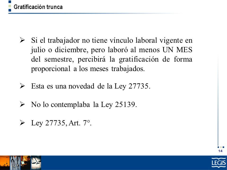 Esta es una novedad de la Ley 27735. No lo contemplaba la Ley 25139.