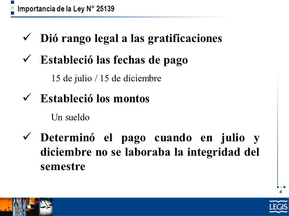 Importancia de la Ley N° 25139