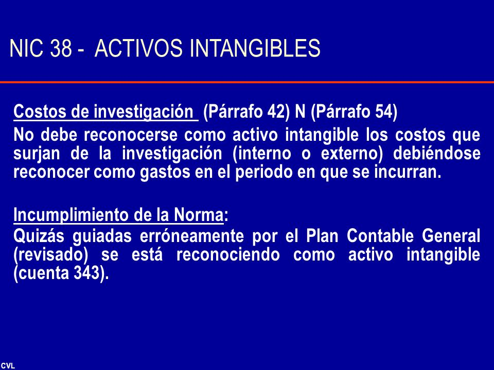 NIC 38 - ACTIVOS INTANGIBLES