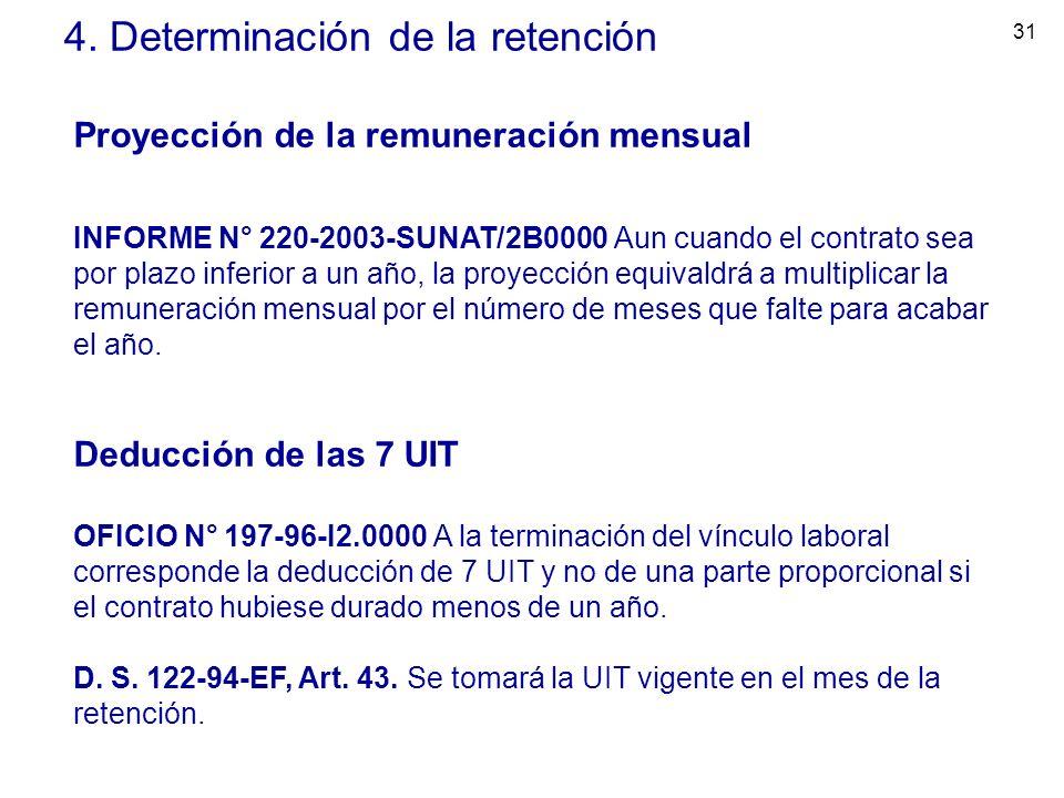 4. Determinación de la retención