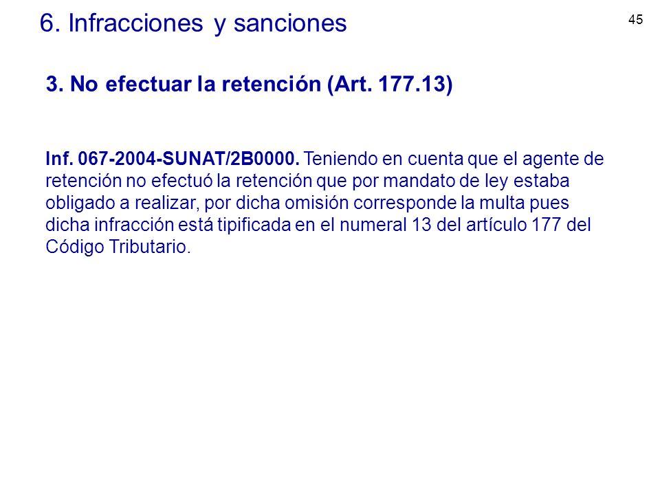 6. Infracciones y sanciones