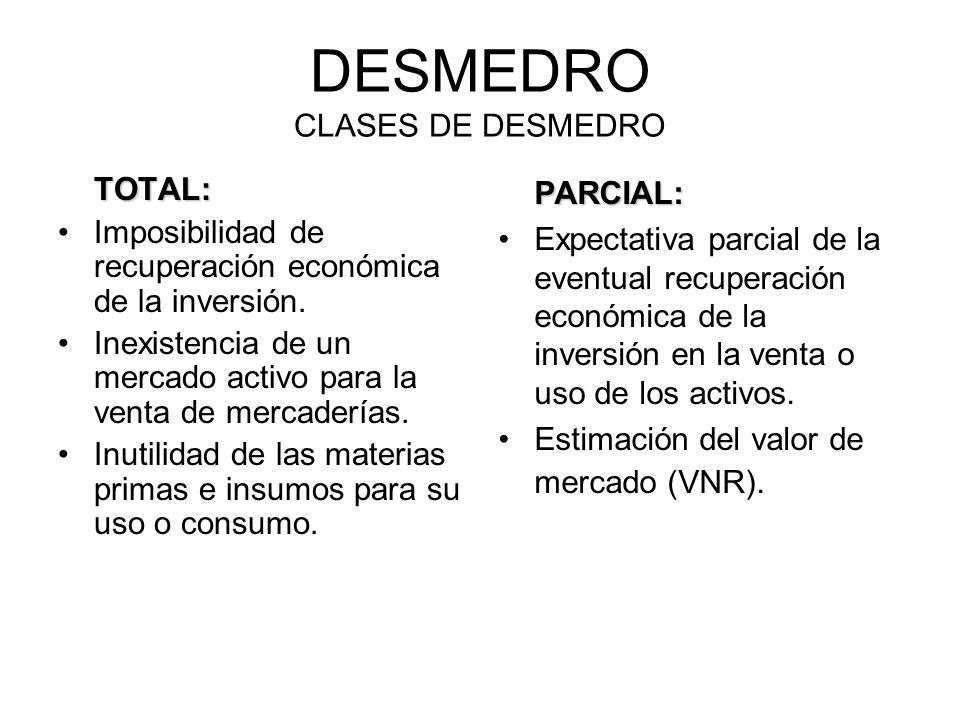DESMEDRO CLASES DE DESMEDRO