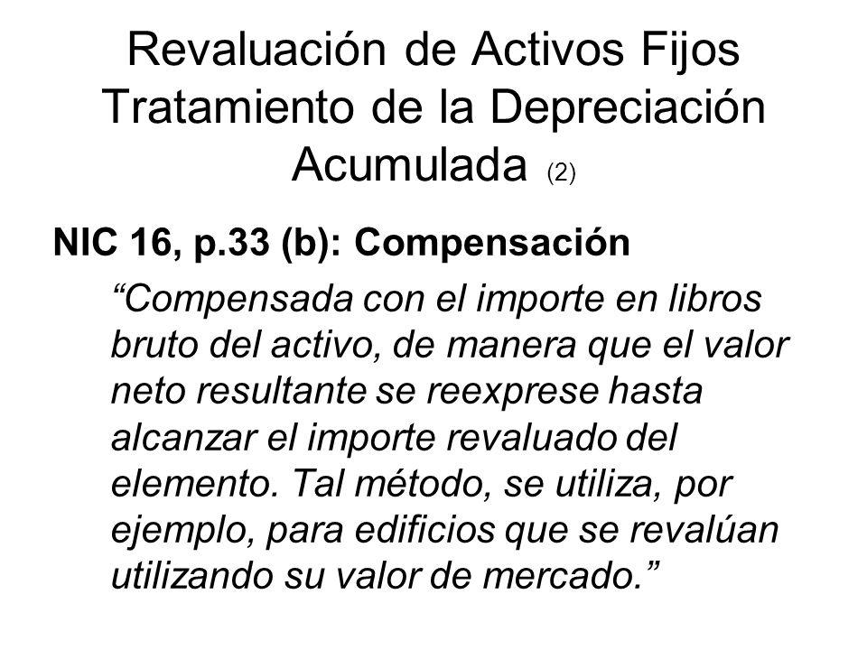 Revaluación de Activos Fijos Tratamiento de la Depreciación Acumulada (2)