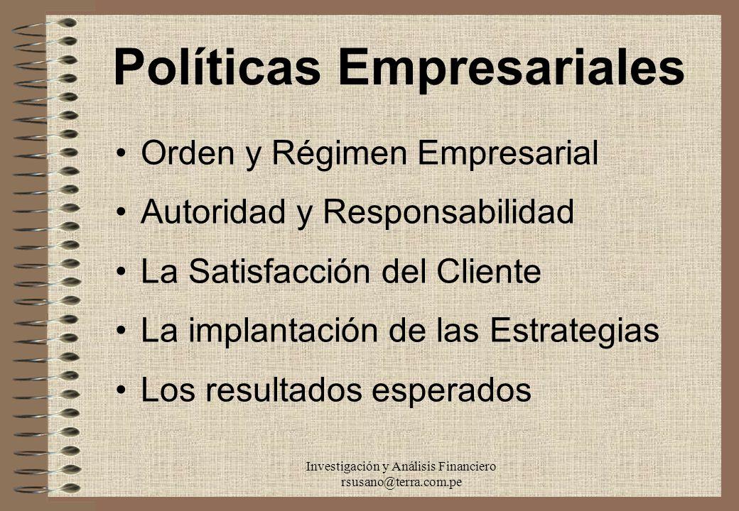 Políticas Empresariales