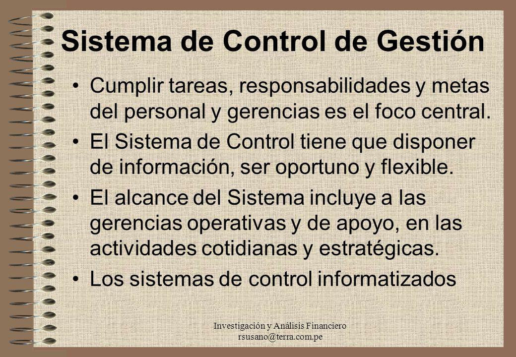 Sistema de Control de Gestión